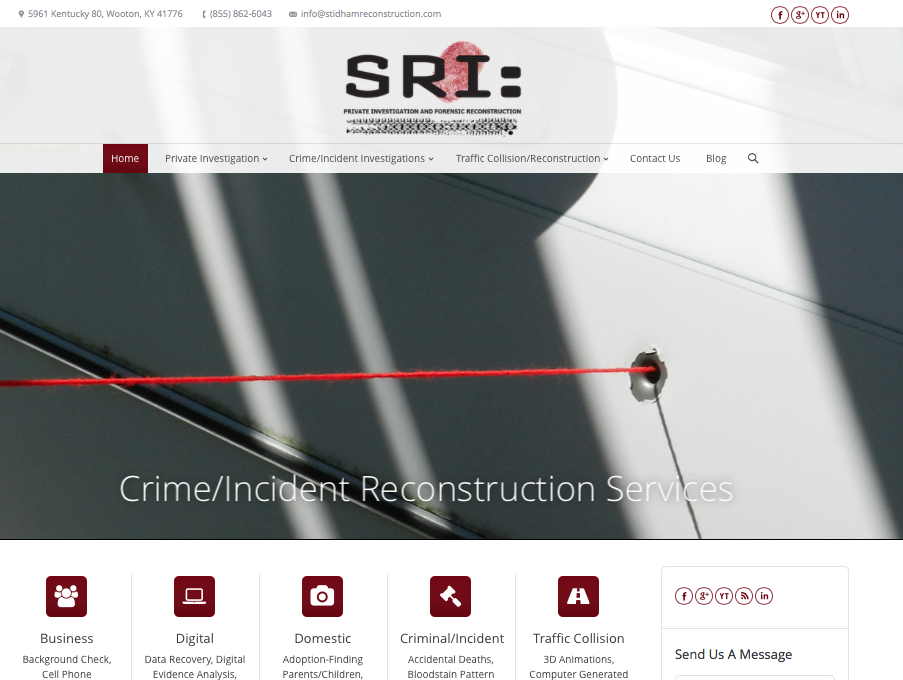 Stidham Reconstruction Website Design by Digital Tulip