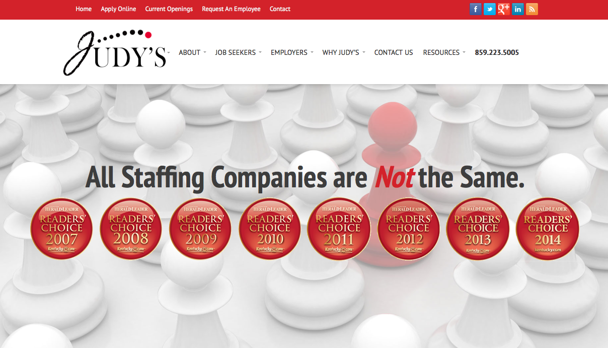 Judys Staffing Website