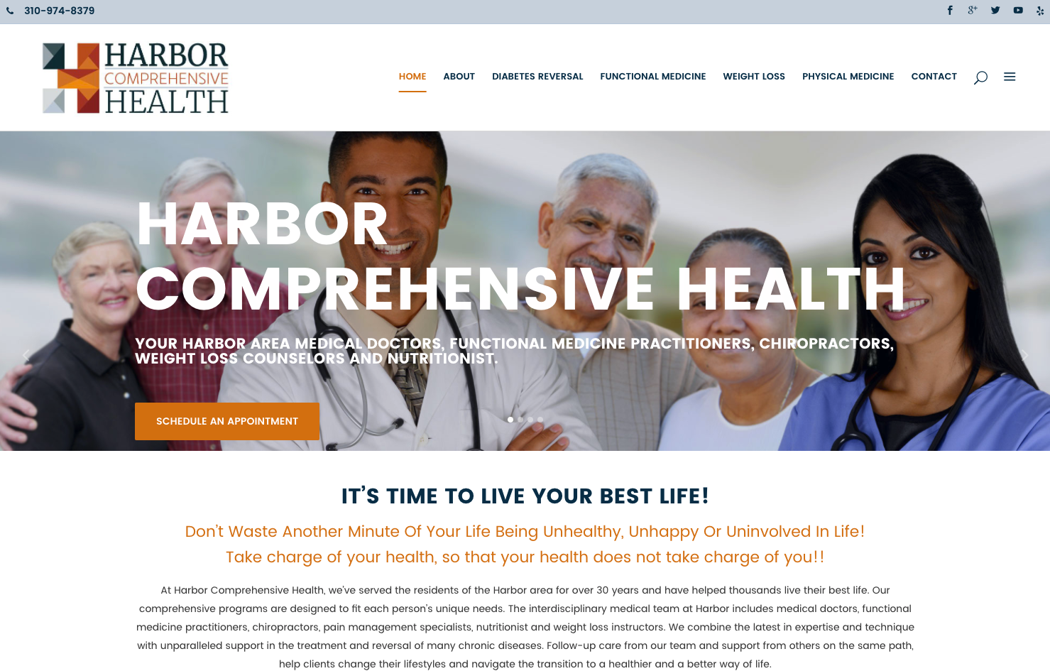 Harbor Comprehensive Health Website Development